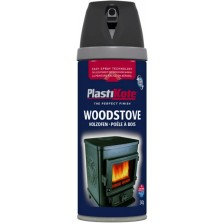 PlastiKote Wood Stove Spray Paint 400ml Black 400ml