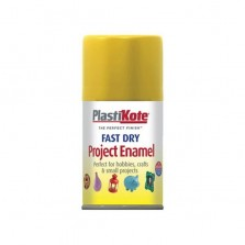 PlastiKote Spray Paint 100ml Yellow Gloss