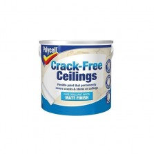 Polycell Crack-Free Ceiling Paint 2.5L White Matt