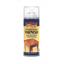 PlastiKote Polyurethane Varnish Spray 400ml Clear Satin