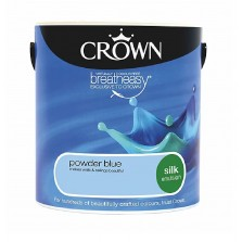 Crown Emulsion Paint 2.5L Powder Blue Silk
