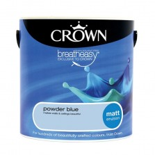 Crown Emulsion Paint 5L Powder Blue Matt