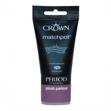 Crown Period Colours Emulsion Paint Tester Pot 40ml Plush Parlour (Matt)