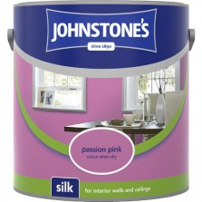 Johnstones Vinyl Emulsion Paint 2.5L Passion Pink Silk