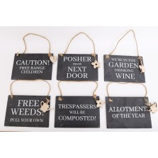 Hanging Slate Sign (20cm x 18cm)