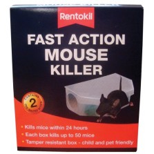 Rentokill Fast Action Mouse Killer (2 Pre Baited Boxes)