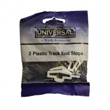 Universal Plastic Track End Stops (2 Pack) White