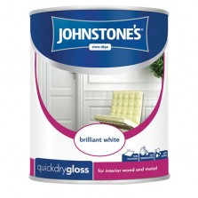Johnstones Quick Drying Gloss Paint 1.25L Brilliant White