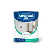 Johnstones Quick Drying One Coat Satin Paint 1.25L Brilliant White