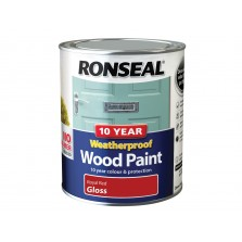 Ronseal 10 Year Weatherproof  Gloss Royal Red 750ml