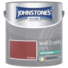 Johnstones Vinyl Emulsion Paint 2.5L Red Spice Soft Sheen