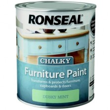 Ronseal Chalky Furniture Paint 750ml Dusky Mint