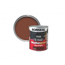 Ronseal 10 Year Weatherproof Wood Paint 750ml Dark Oak Gloss