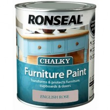 Ronseal Chalky Furniture Paint 750ml English Rose