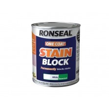 Ronseal One Coat Stain Block 750ml White Base-coat
