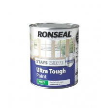 Ronseal Stays White Ultra Tough Matt Paint 750ml White