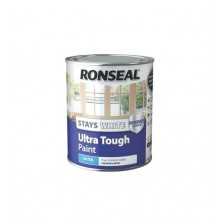 Ronseal Stays White Ultra Tough Satin Paint 750ml White