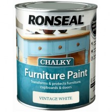 Ronseal Chalky Furniture Paint 750ml Vintage White