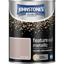 Johnstones Feature Wall Paint 1.25L Metallic Rose Gold