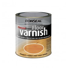 Ronseal Diamond Hard Floor Varnish 2.5L Dark Oak Satin