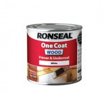 Ronseal One Coat Wood Primer & Undercoat 250ml White
