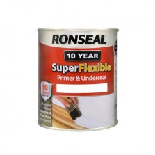 Ronseal Super Flexible 10 Year Primer & Undercoat 750ml White