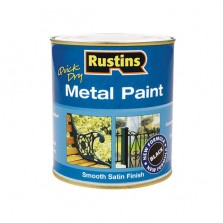 Rustins Metal Paint 500ml Black Satin