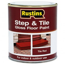 Rustins Step/Tile Paint 250ml Red Gloss