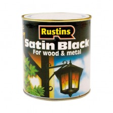 Rustins Quick Dry Wood/Metal Paint 250ml Black Satin