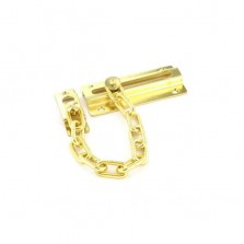 Securit S1624 Brass Plated Steel Door Chain 80mm