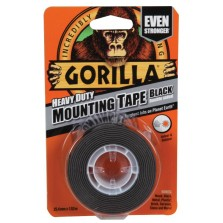 Gorilla Heavy Duty Black Mounting Tape 1.52m x 25.4mm