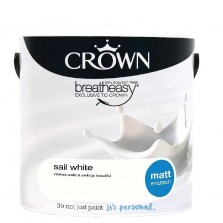 Crown Emulsion Paint 2.5L Sail White Matt