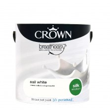 Crown Emulsion Paint 2.5L Sail White Silk