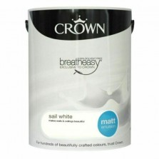 Crown Emulsion Paint 5L Sail White Matt