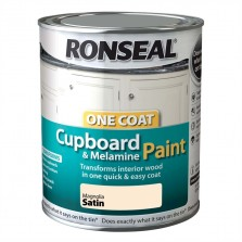 Ronseal One Coat Cupboard paint 750ml Magnolia Satin
