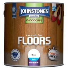 Johnstones Woodcare Varnish For Floors 2.5L Clear Satin