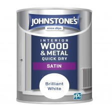 Johnstones Quick Dry Satin Paint 750ml Brilliant White