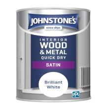 Johnstones Quick Dry Satin Paint 2.5L Brilliant White