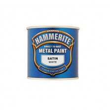 Hammerite Metal Paint 250ml White Satin
