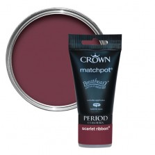 Crown Period Colours Emulsion Paint Tester Pot 40ml Scarlett Ribbon (Matt)