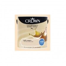 Crown Emulsion Paint 5L Soft Cream Matt