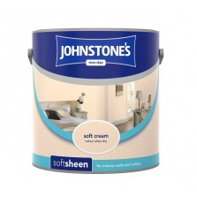 Johnstones Vinyl Emulsion Paint 2.5L Soft Cream (Soft Sheen)