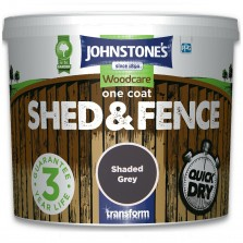 Johnstones One Coat Shed & Fence Paint 5L Shaded Grey