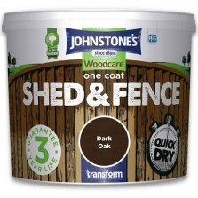 Johnstones One Coat Shed & Fence Paint 9L Dark Oak