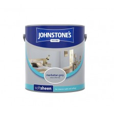 Johnstones Vinyl Emulsion Paint 2.5L Manhattan Grey (Soft Sheen)