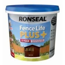 Ronseal Fence Life Plus + 5L Dark Oak
