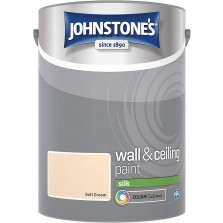 Johnstones Vinyl Emulsion Paint 5L Soft Cream (Silk)