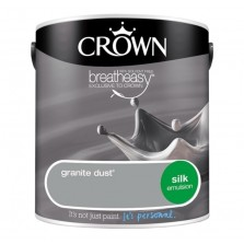 Crown Breathe Easy Emulsion Paint 2.5L Granite Dust (Silk)