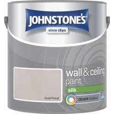 Johnstones Vinyl Emulsion Paint 2.5L Iced Petal Silk