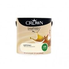 Crown Breathe Easy Emulsion Paint 5L Soft Linen (Silk)